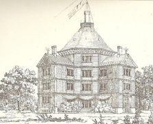 Pałac w Antoninie - litografia z 1836 r.