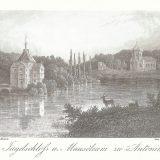 Pałac i mauzoleum w Antoninie - litografia. Ze zbiorów Muzeum Miasta Ostrowa Wielkopolskiego